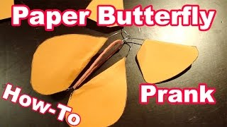 getlinkyoutube.com-DIY Flying Paper Butterfly Prank