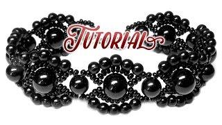 getlinkyoutube.com-Tutorial: Vintage beaded bracelet / Винтажный браслет из бисера и бусин своими руками