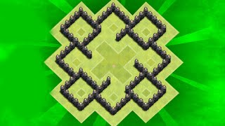 getlinkyoutube.com-Clash of Clans - th5 farming base / anti giant / speed build