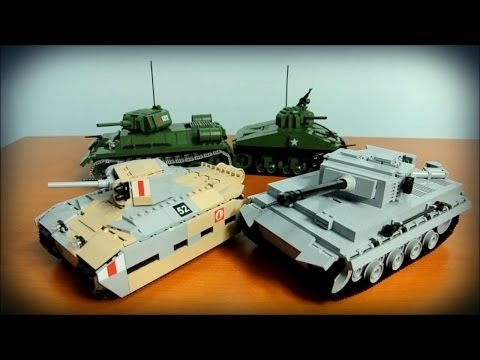 World of COBI Tanks :) - Overview of all 4 tanks from WW2 series