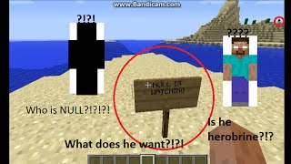getlinkyoutube.com-Minecraft Null sighting #2 (Herobrine Maybe?!?!)