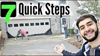 How to pour a New Concrete Driveway in 7 Quick Steps