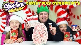 getlinkyoutube.com-Giant Surprise Food Egg - Shopkins Christmas Ornaments Exclusive Baubels
