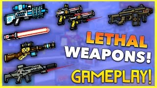 getlinkyoutube.com-Pixel Gun 3D - High Lethality Weapon Gameplay!