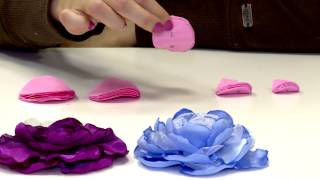 getlinkyoutube.com-Цветы из ткани
