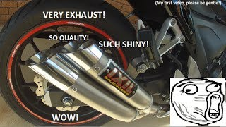 getlinkyoutube.com-2013 Honda CBR500R Exhaust: Ixil Hyperlow L3X!