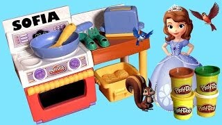 getlinkyoutube.com-Play Doh Meal Making Kitchen with Disney Sofia the First DC Super Cocinita PlayDough by ToyCollector