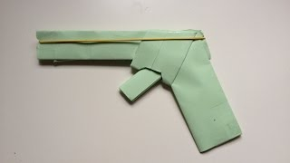getlinkyoutube.com-How To Make A Paper Gun That Shoots Rubber Bands (With Trigger). (Easy) (HD)