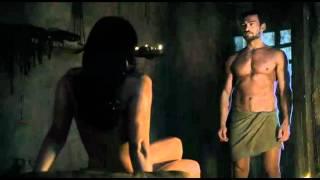 getlinkyoutube.com-Spartacus Ep9 #1 - Scena sesso Lucrezia con Batiato e Mira con Spartacus