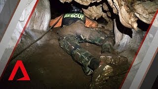 Thailand cave rescue: new footage of dramatic mission width=