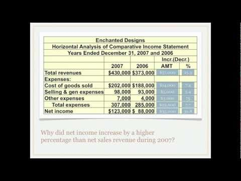 Financial Statement Analysis - Horizontal Analysis
