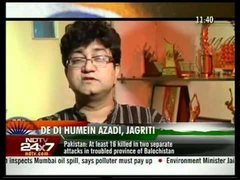 PRASOON JOSHI - Interview NDTV -Vande mataram  (independence special)