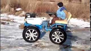 getlinkyoutube.com-Мини трактор из мотоблока своими руками /2