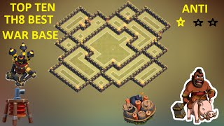 getlinkyoutube.com-Clash of Clans -Town hall 8 (Th8) War base ANTI Hog ANTI Dragon ANTI 2 Star 2015