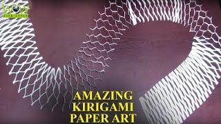 getlinkyoutube.com-Kirigami Paper Art Tips | Simple Paper Cuting | Amazing Kirigami Paper Art | WOW Lifestyle