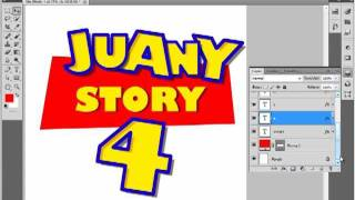 Toy Story logo tutorial 1/2