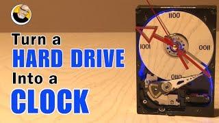 getlinkyoutube.com-Turn a HARD DRIVE into a CLOCK!