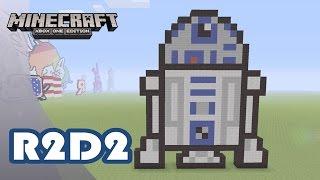 getlinkyoutube.com-Minecraft: Pixel Art Tutorial and Showcase: R2-D2 (Star Wars)