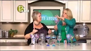 getlinkyoutube.com-Its the hottest thing on Pinterest, the painted wine glass