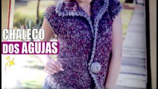 getlinkyoutube.com-Chaleco tejido - Con Agujas - Tejiendo con Laura Cepeda
