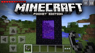 getlinkyoutube.com-Going To The Nether In Minecraft Pocket Edition! - MCPE Concept Video (1.0.0+)