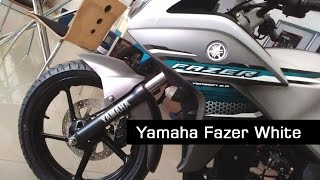 getlinkyoutube.com-Yamaha Fazer Version 2.0 New Colours Snow Storm White Color Model At Showroom | 2017 | India