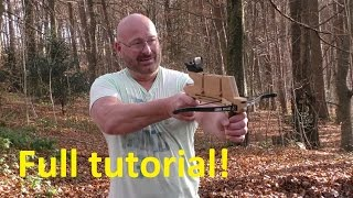 getlinkyoutube.com-How To Make+Shoot The Pump Action Repeating Crossbow Pistol