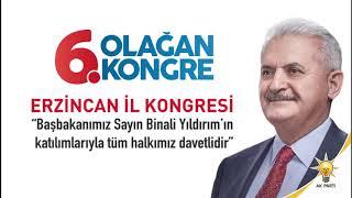 AK Parti Erzincan İl Kongresi 13 Şubatta Başbakan Binali Yıldırım'ın katılımıyla
