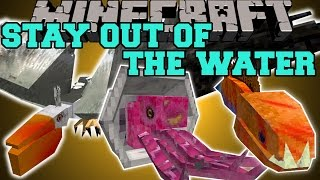 Minecraft: STAY OUT OF THE WATER (KILLER FISH, EVIL BIRDS, & DROWNING) Mod Showcase