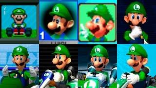 getlinkyoutube.com-Mario Kart Saga Characters | Luigi Evolution | Evolución gráfica de Luigi