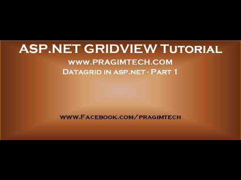 Datagrid in asp net   Part 1