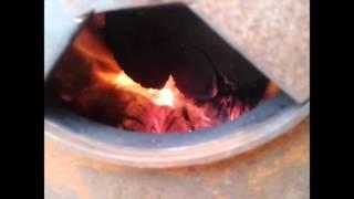 getlinkyoutube.com-Пуск піролізного котла день 2, homemade wood boiler