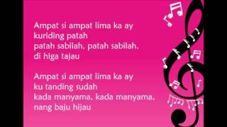 getlinkyoutube.com-Lagu Daerah Kalimantan Selatan - Ampat Si Ampat Lima (Lirik)