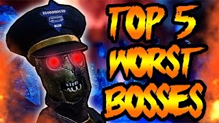 getlinkyoutube.com-Top 5 WORST Zombies Bosses! COD Black Ops 3 Zombies, Black Ops, World at War Zombie Top 5 Gameplay