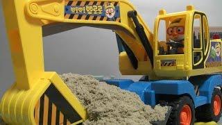 getlinkyoutube.com-뽀로로 모래놀이 장난감 포크레인 Pororo Sand Car Toys