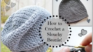 getlinkyoutube.com-How to Crochet a Cute Slouchy Beanie! | Ms. Craft Nerd