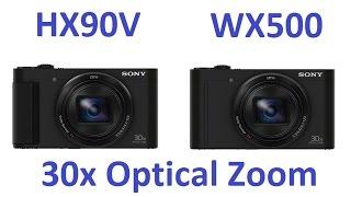 getlinkyoutube.com-Sony DSC-HX90V vs Sony DSC-WX500