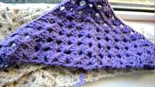 getlinkyoutube.com-Crochet Lessons - How to work a triangle based on the granny square - Part 1