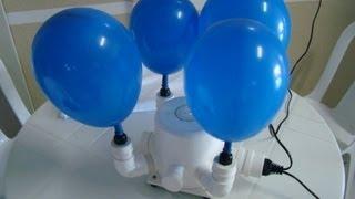 getlinkyoutube.com-tutorial - como fazer Inflador de balão - de 1 a 6 bicos com ralo de banheiro - 氣球充氣 Qìqiú chōngqì