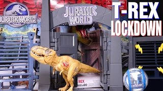 getlinkyoutube.com-Opening: Jurassic World T-REX LOCKDOWN Playset
