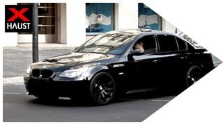 getlinkyoutube.com-EXTREME BRUTAL M5 E60 EXHAUST SOUND (Custom Exhaust) - Fly By - Take off - Carspotting in Berlin