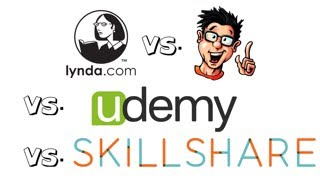 Lynda com VS Digitaltutors com VS Udemy com VS Skillshare com