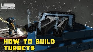 How To Build A Turret, Firing & Moving - Space Engineers