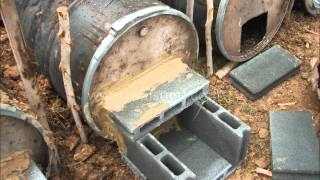 getlinkyoutube.com-Charcoal making using 200 Liter drum (12-24 hours batch operation)