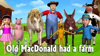 getlinkyoutube.com-Old MacDonald Had A Farm - 3D Animation Animals Songs & Nursery Rhymes for Children