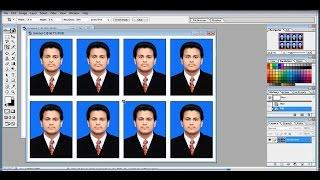 how to create passport size photo on adobe Photoshop 7. 0