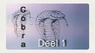 getlinkyoutube.com-Hoe teken je een cobra - Deel 1 / dieren tekenen / #20