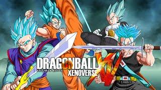 getlinkyoutube.com-SSGSS Goku & Gohan VS SSGSS Vegeta & Trunks | Dragon Ball Xenoverse MODS (Duels)