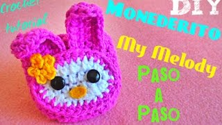 getlinkyoutube.com-My Melody!!! -Mini Monedero!! CROCHET TEJIDO