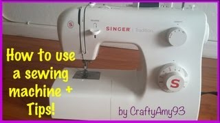 How to use a sewing machine + Sewing Tips! (Easy for Beginners) width=